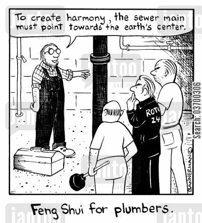 harmonious cartoon humor: Feng Shui for Plumbers