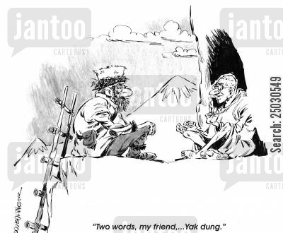 seeker cartoon humor: Two words, my friend...Yak dung.