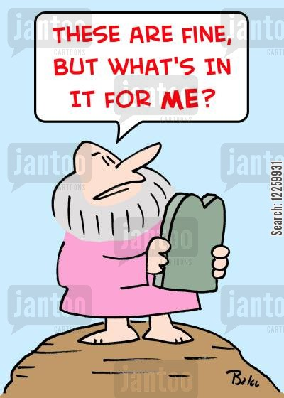 tablets cartoon humor: 'These are fine, but what's in it for me?'