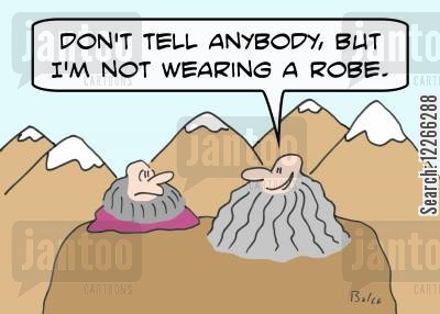 dont tell anybody cartoon humor: 'Don't tell anybody, but I'm not wearing a robe.'