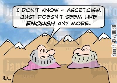 hinduism cartoon humor: 'I don't know - asceticism just doesn't seem like ENOUGH any more.'