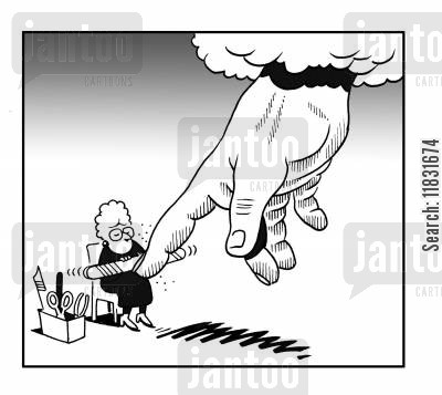 pedicure cartoon humor: The Manicure.