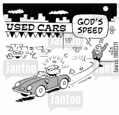 god speed cartoon humor: 'God's speed.'