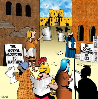 early christians cartoon humor: The Gospel according to . . .