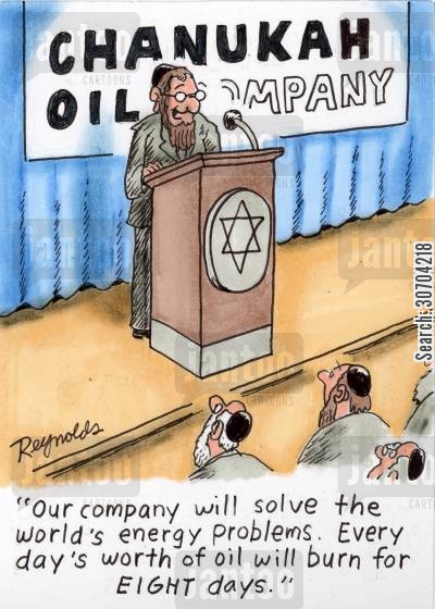 oil shortage cartoon humor: 'Our company will solve the world's energy problems. Every day's worth of oil will burn for eight days.'