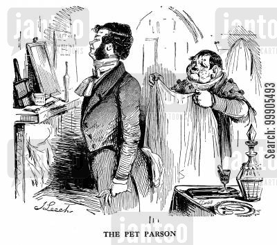 enemies cartoon humor: The Pet Parson