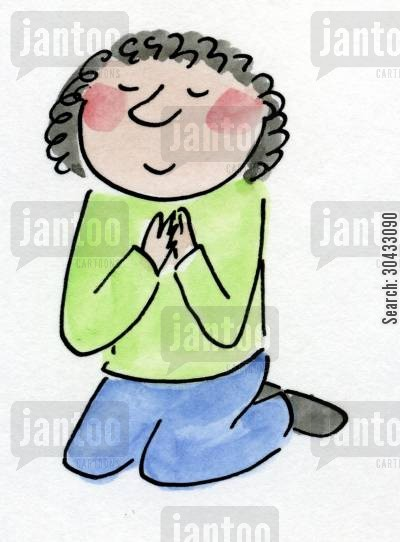 protestant cartoon humor: Praying.
