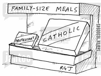 family size cartoon humor: Family-size meals