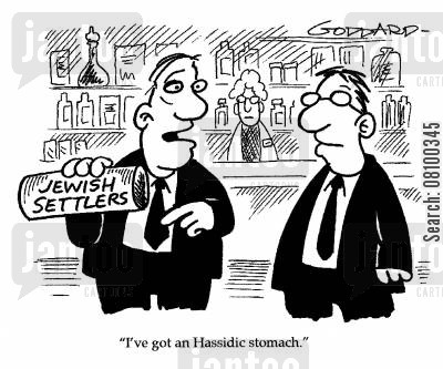 acidic cartoon humor: I've got an Hassidic stomach.