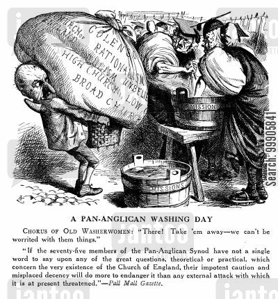washerwoman cartoon humor: A Pan Anglican Washing Day