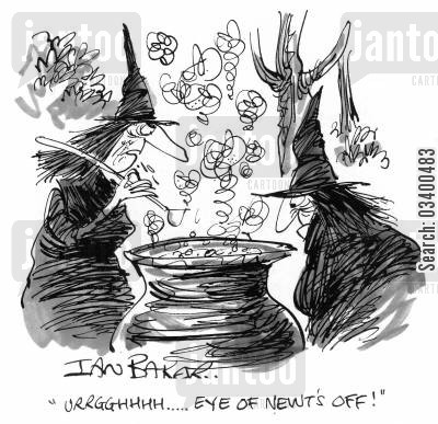 necromancy cartoon humor: Ugggghhh....eye of newt's off!