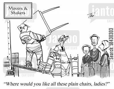 puritan cartoon humor: Movers and Shakers