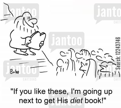next cartoon humor: 'If you like these, I'm going up next to get his diet book!'
