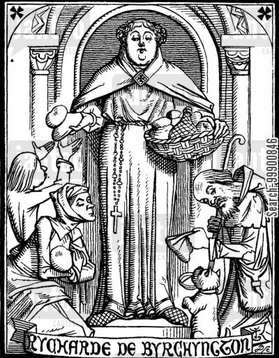 medieval churches cartoon humor: Ingoldsby Legends - Pious Bishop Richard of Birchington