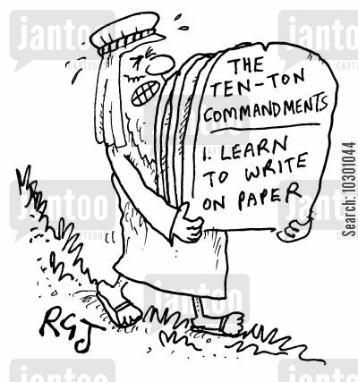 carved in stone cartoon humor: The Ten Ton Commandments