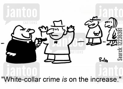dog collar dog collars cartoon humor: 'White-collar crime IS on the increase.'