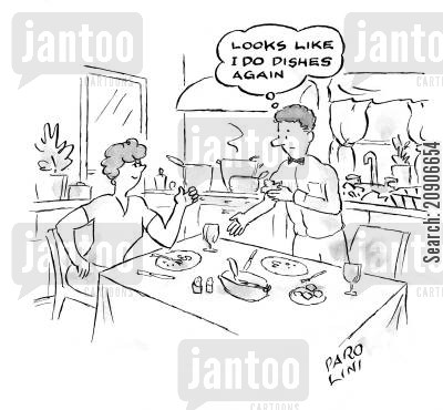 doing dishes cartoon humor: Looks like I do dishes again.