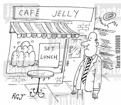 set lunch cartoon humor: Cafe Jelly, Set Lunch