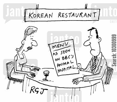 korea cartoon humor: Menu: As seen on BBC's Animal Hospital