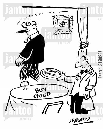 share tips cartoon humor: Buy Gold