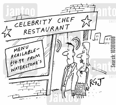 bookselling cartoon humor: Celebrity Chef Restaurant