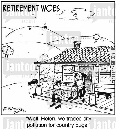 smog cartoon humor: Retirement Woes.