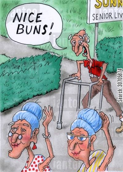 flirters cartoon humor: 'Nice Buns!'