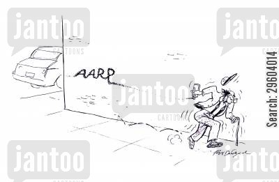 old people cartoon humor: Pensioner and Graffiti