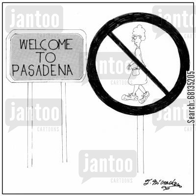 fast cars cartoon humor: Welcome to Pasadena. Little old ladies in sneakers are not allowed.