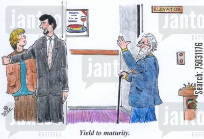 respect cartoon humor: 'Yield to maturity.'