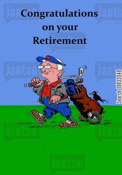 hole in one cartoon humor: Congratulations on your retirement