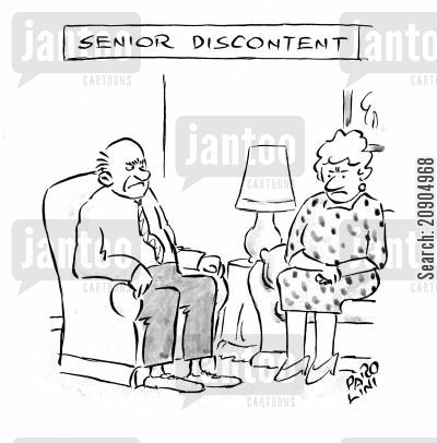 discontent cartoon humor: Senior Discontent.