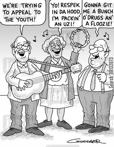 elderly care cartoon humor: 'We're trying to appeal to the Youth.'