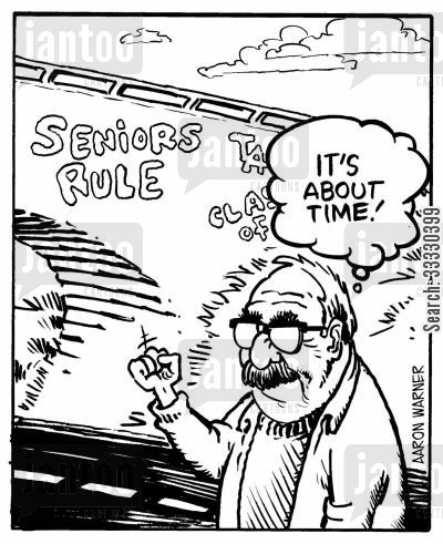 old people cartoon humor: Seniors Rule!