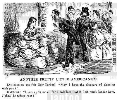 american fashion cartoon humor: Another Pretty Little Americanism