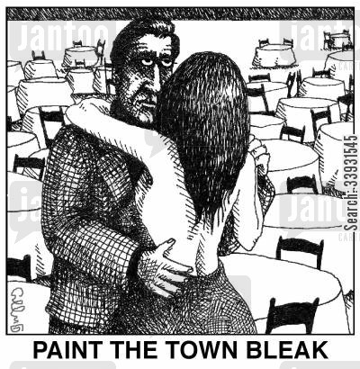paint the town cartoon humor: Paint the town bleak.