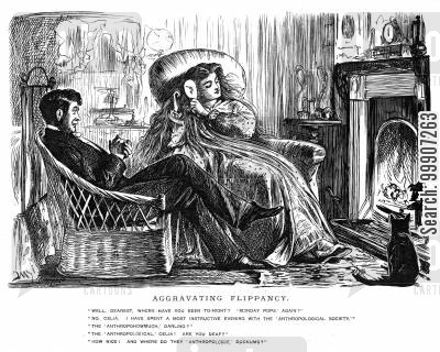 mantlepiece cartoon humor: A couple sitting beside the fireplace