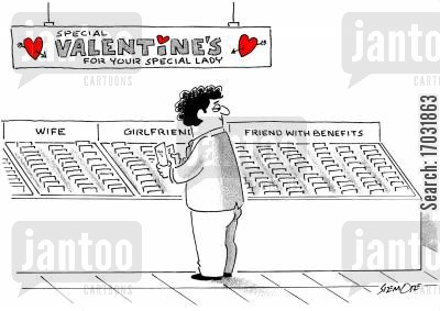 card shops cartoon humor: Special Valentine's For Your Special Lady