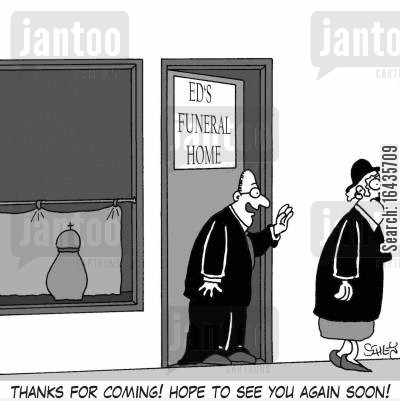 best wishes cartoon humor: 'Thanks for coming! Hope to see you again soon!'