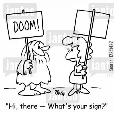 crackpots cartoon humor: 'Hi, there -- What's your sign?'