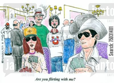 flirtations cartoon humor: 'Are you flirting with me?'