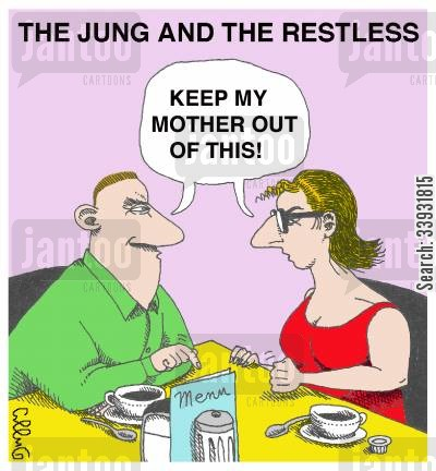 soap operas cartoon humor: The Jung and the Restless.