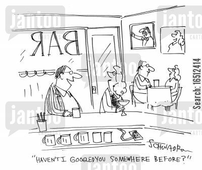 googling cartoon humor: 'Haven't I Googled you somewhere before?'