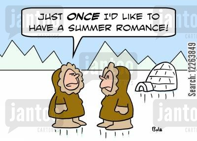 summmer romances cartoon humor: 'Just ONCE I'd like to have a summer romance!'