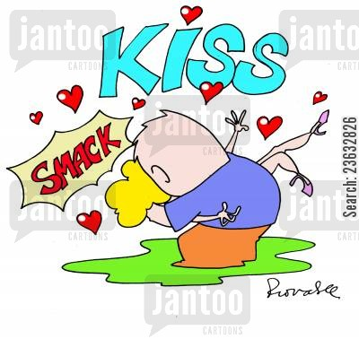 snogging cartoon humor: Kissing.