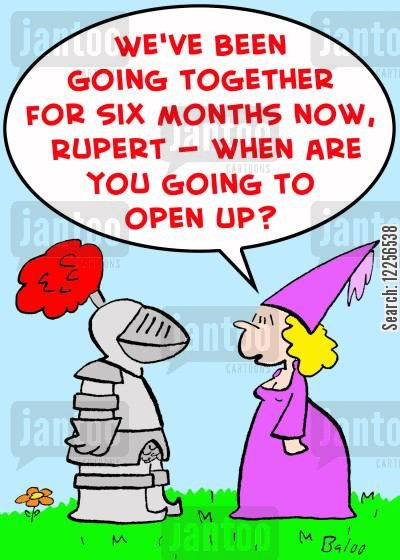open up cartoon humor: 'We've been going together for six months now, Rupert -- When are you going to open up?'