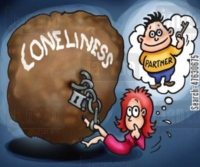 perfect men cartoon humor: Loneliness.