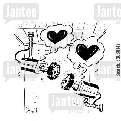 security cameras cartoon humor: Video Camera Love.