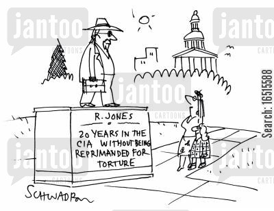 pow cartoon humor: 20 years in the CIA without being reprimanded for torture.