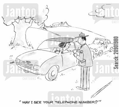 phone numbers cartoon humor: 'May I see your telephone number?'